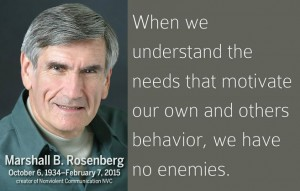 Marshall Rosenberg when we understand... ennemies