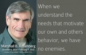 Marshall Rosenberg when we understand... ennemies