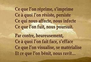 ce que l'on réprime s'imprime... citation
