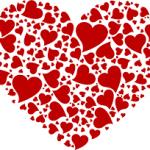 Coeur rouge très joli