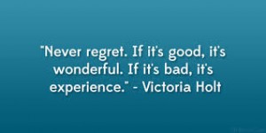 never regret.. victoria holt