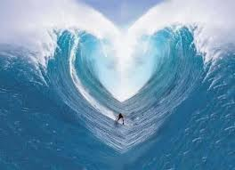 surfer sur la vague du coeur